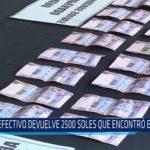Chiclayo: Efectivo devuelve 2500 soles que encontró en cajero