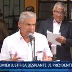Piura: Premier justifica desplante de presidente Vizcarra