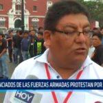 Trujillo: Licensiados de las fuerzas armadas protestan por beneficios