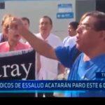 Médicos de EsSalud acatarán paro este 6 de junio