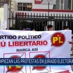 Chiclayo: Empiezan las protestas en jurado electoral especial