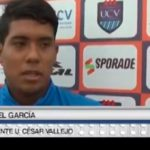 García a la expectativa del partido ante Alianza Sullana