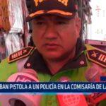Roban pistola a un policía en la comisaría de La Noria