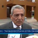 "Elidio Espinoza: ""Tratan de boicotear mi gestión con robo de computadoras"""
