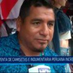 Venta de camisetas e indumentaria peruana incrementará