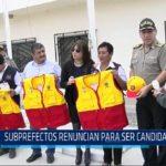 Chiclayo: Subprefectos renuncian para ser candidatos
