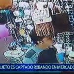 Piura: Sujeto es captado robando en mercado central