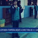 Suspenden temporalmente a directora de I.E. caritas felices