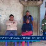Transportistas paralizan en el distrito de Laredo