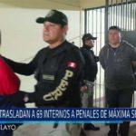 Chiclayo Trasladan a 69 internos a penales de máxima seguridad