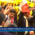 Trujillo: Escolares rinden tributo a la selección nacional