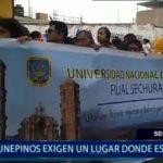 Piura: Universitarios sechuranos exigen un lugar donde estudiar