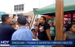 Piura: Venezolano y piurano se enfrentan por un puesto de venta
