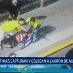Trujillo: Víctimas capturan y golpean a ladrón de autopartes