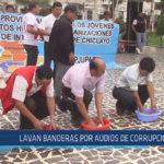 Chiclayo : Lavan banderas por audios de corrupción