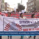 Chiclayo : Marchan pidiendo Asamblea Constituyente