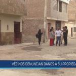 Chiclayo: Vecinos denuncian daños a su propiedad