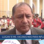 Chiclayo: Llegan 10 mil vacunas más para influenza