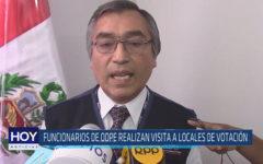 Chiclayo: Funcionarios de ODPE realizan visita a locales de votación