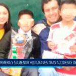 La Libertad: Enfermera y su menor hijo graves tras accidente de tránsito