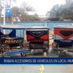 Chiclayo: Roban accesorios de vehículos en local municipal