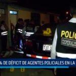 44% de déficit de agentes policiales en La Libertad