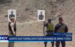 Agentes SUAT fueron capacitados en manejo de armas y crisis