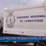 Chiclayo: Alcalde preocupado por demora en entrega de compactadoras