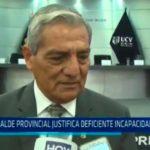 Alcalde provincial justifica deficiente incapacidad de gasto