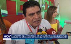 Chiclayo: Candidato de Acción Popular no participará en elecciones