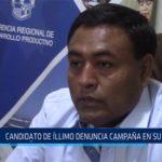 Chiclayo: Candidato de Íllimo denuncia campaña en su contra