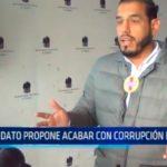 Candidato propone acabar con corrupción en obras
