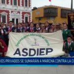 Colegios privados se sumarán a marcha contra la corrupción