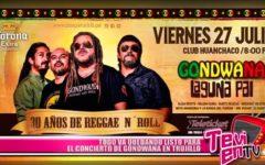 Todo va quedando listo para el concierto de Gondwana en Trujillo