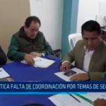 Carlos Vásquez: Critica falta de coordinación por temas de seguridad