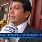 Defensoría critica poca accesibilidad a nuevo local de ODPE