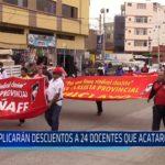 Chiclayo: Aplicarán descuentos a 24 docentes que acataron huelga