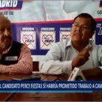 Piura: El candidato Percy Fiestas si habría prometido trabajo a cambio de votos