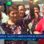 Experiencia, talento y sabor en feria de postres peruanos