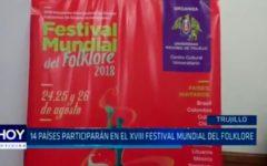 14 paises participarán en el XVIII Festival Mundial del Folklore