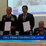 GRLL firma convenio con la FAP