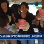 """Impulsan campaña """"Desmaquillemos la violencia con amor"""""""