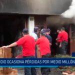 Incendio ocasiona pérdidas por medio millón de soles