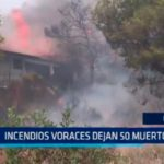 Grecia: Incendios voraces dejan 50 muertos