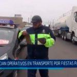 Inician operativos en transporte por fiestas patrias