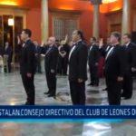 Instalan Consejo Directivo del Club de Leones de Trujillo