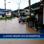 Japón: Lluvias dejan casi 60 muertos