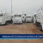 Chiclayo: Piden mayor celeridad en entrega de compactadoras