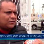 Edwin Castellanos respalda licencia de Valdez