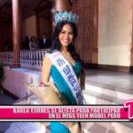 Karla Torres se alista para participar en el Miss Teen Model Perú